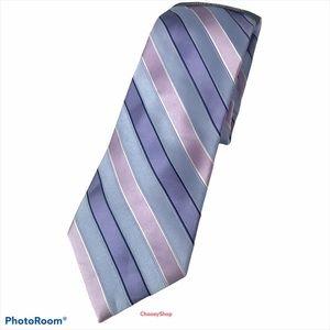 NWT Jones New York Shades of Purple Black Silk Tie